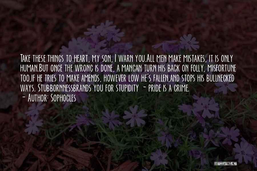 A Man's Pride Quotes By Sophocles