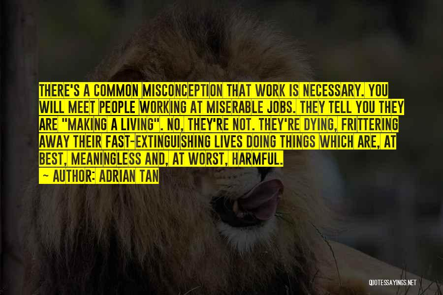 A Meaningless Life Quotes By Adrian Tan