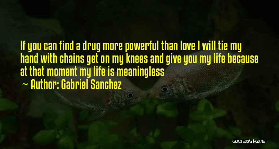 A Meaningless Life Quotes By Gabriel Sanchez