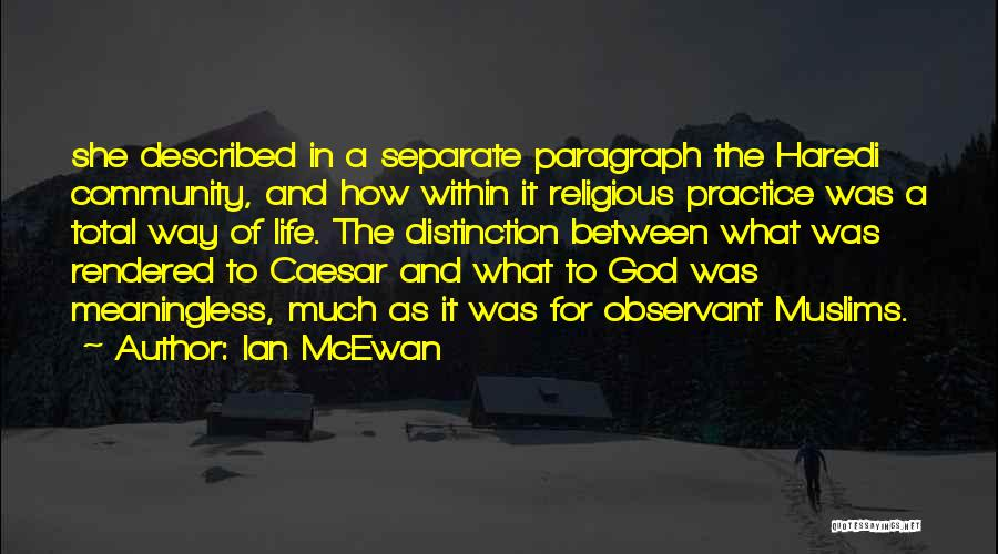 A Meaningless Life Quotes By Ian McEwan