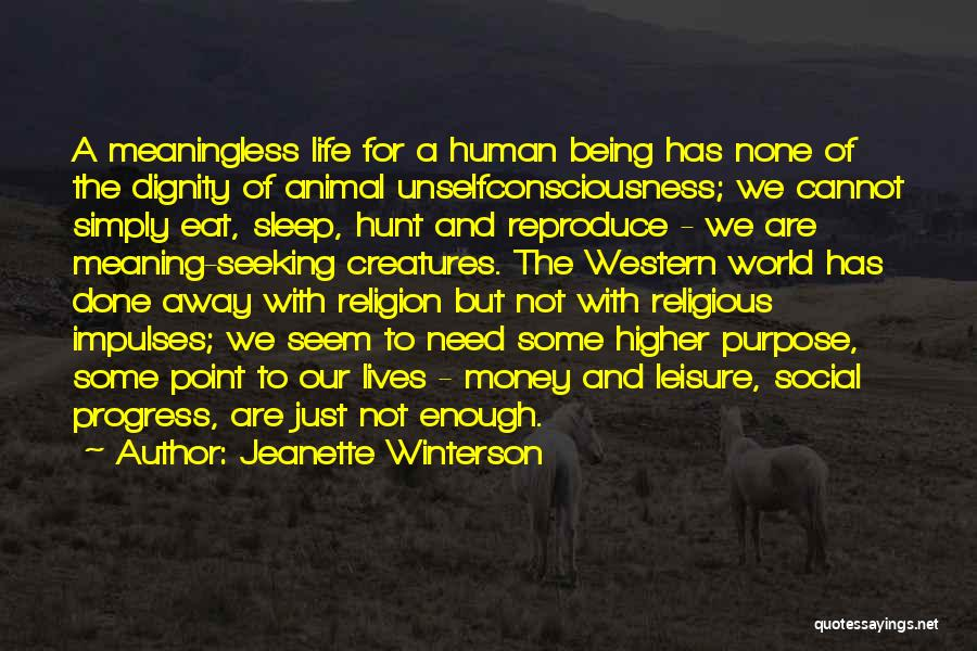 A Meaningless Life Quotes By Jeanette Winterson