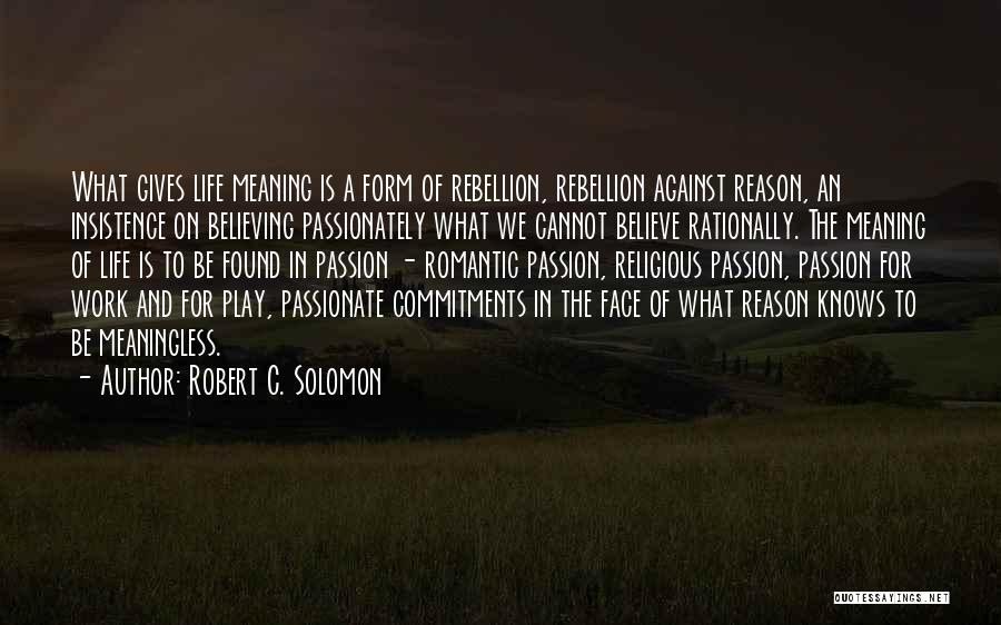 A Meaningless Life Quotes By Robert C. Solomon