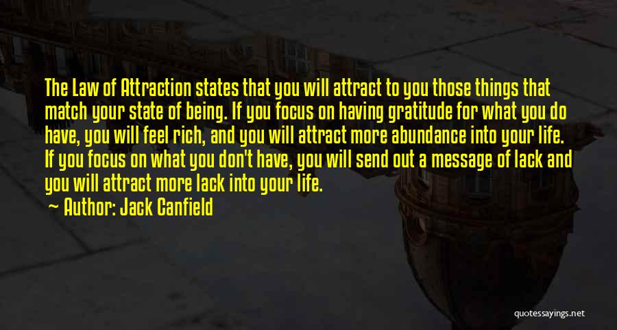 A Message Quotes By Jack Canfield