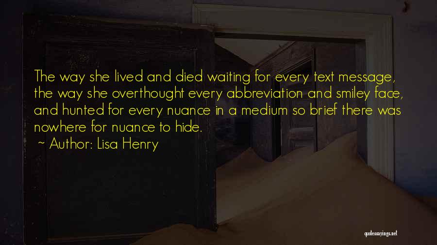 A Message Quotes By Lisa Henry