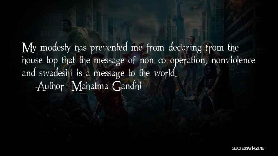 A Message Quotes By Mahatma Gandhi