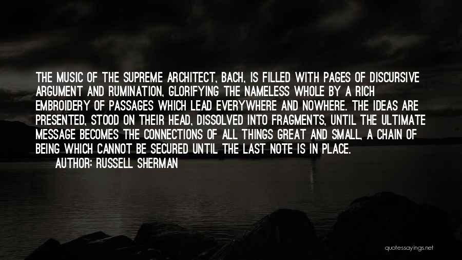 A Message Quotes By Russell Sherman