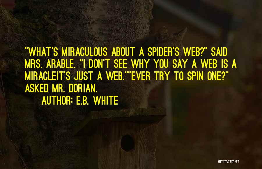 A Miracle Quotes By E.B. White
