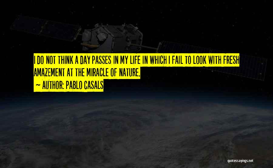 A Miracle Quotes By Pablo Casals