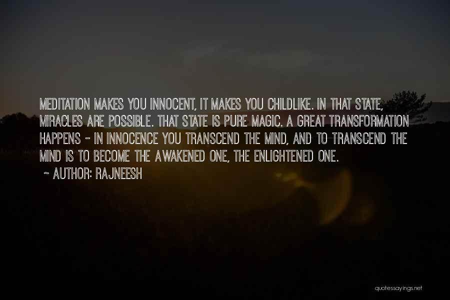 A Miracle Quotes By Rajneesh