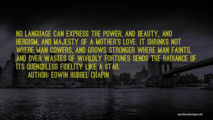 A Mom's Love Quotes By Edwin Hubbel Chapin