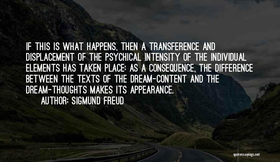 A Place That Makes You Content Quotes By Sigmund Freud