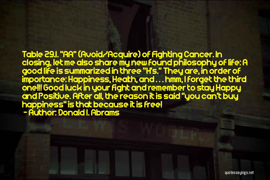A Positive Life Quotes By Donald I. Abrams