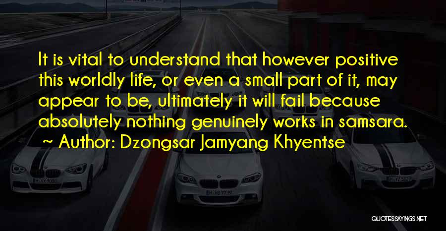 A Positive Life Quotes By Dzongsar Jamyang Khyentse