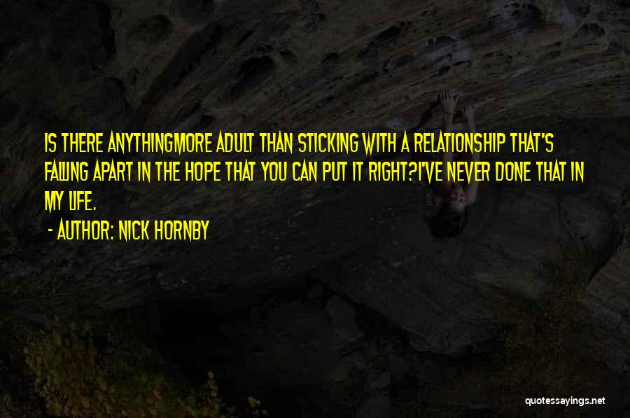 A Relationship That's Falling Apart Quotes By Nick Hornby