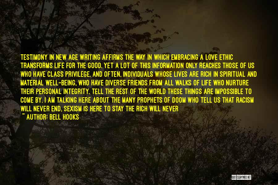 A Rich Life Quotes By Bell Hooks