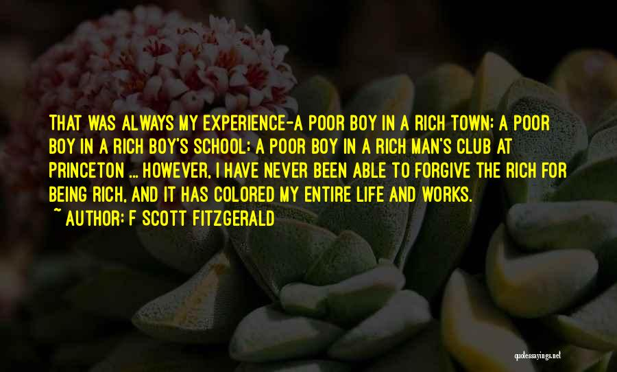 A Rich Life Quotes By F Scott Fitzgerald