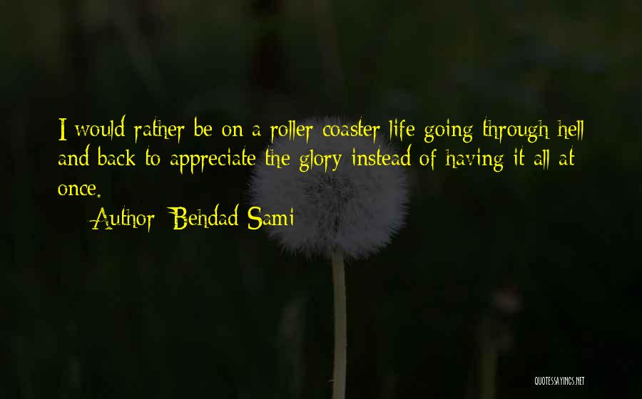 A Roller Coaster Life Quotes By Behdad Sami