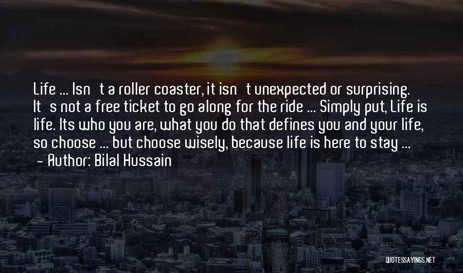 A Roller Coaster Life Quotes By Bilal Hussain