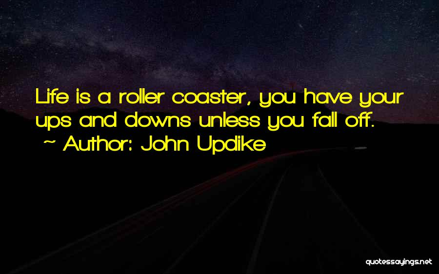A Roller Coaster Life Quotes By John Updike