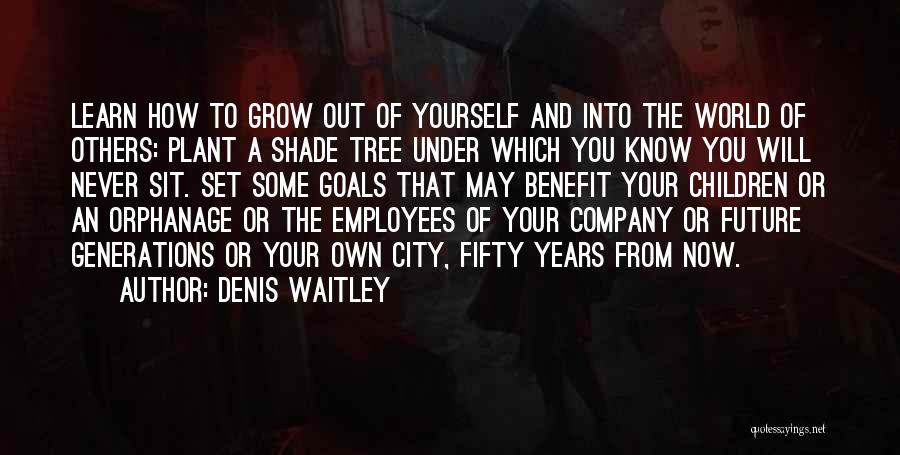 A Shade Tree Quotes By Denis Waitley