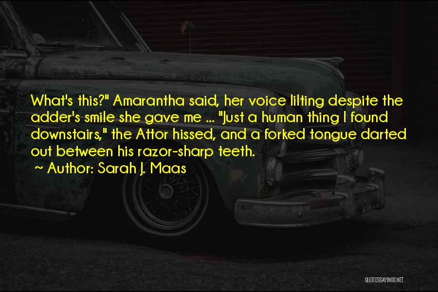 A Sharp Tongue Quotes By Sarah J. Maas
