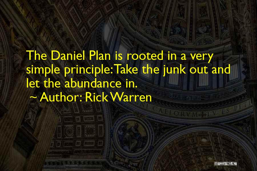 A Simple Plan Quotes By Rick Warren
