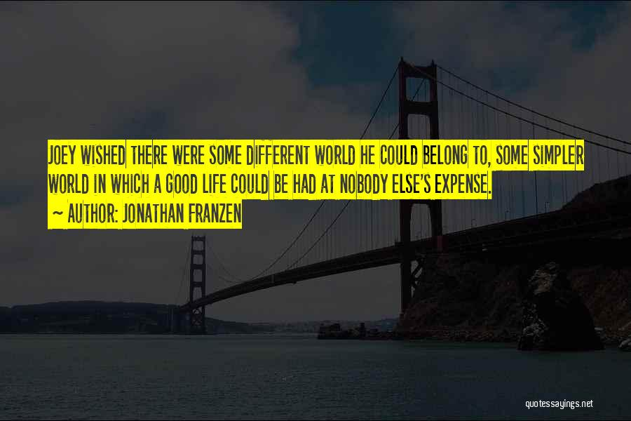 A Simpler Life Quotes By Jonathan Franzen
