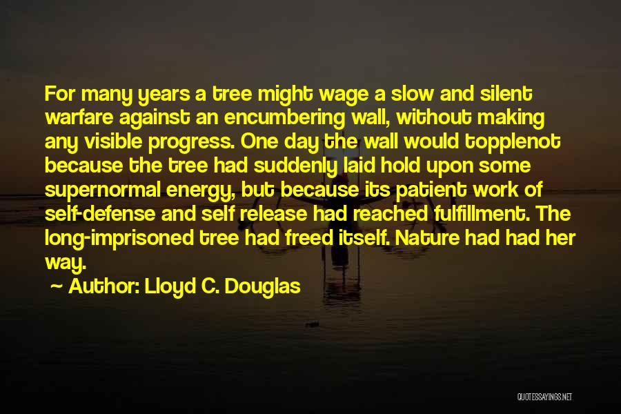A Slow Day At Work Quotes By Lloyd C. Douglas