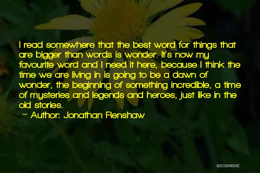 A To Z Mysteries Quotes By Jonathan Renshaw