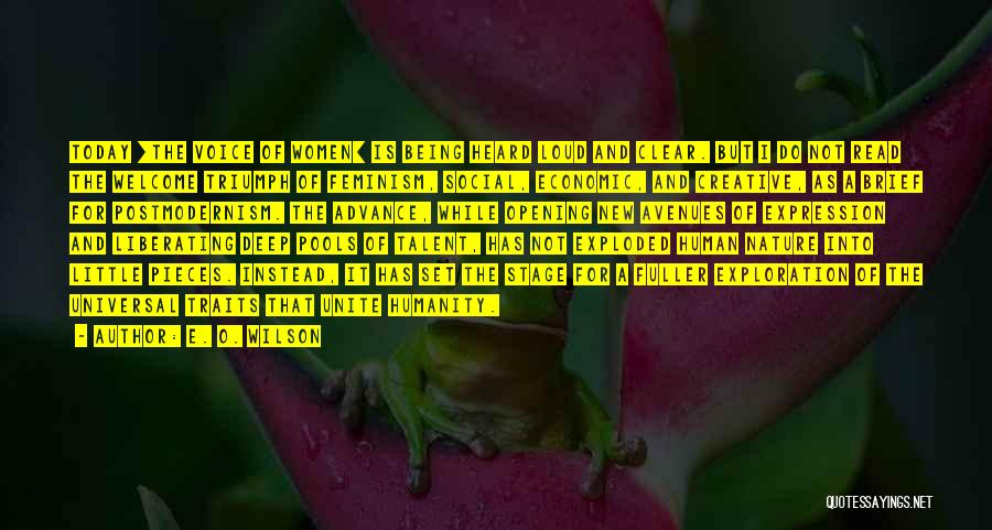 A While Quotes By E. O. Wilson