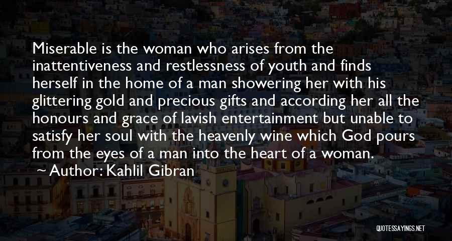 A Woman's Heart And God Quotes By Kahlil Gibran