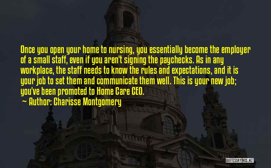 A Workplace Quotes By Charisse Montgomery
