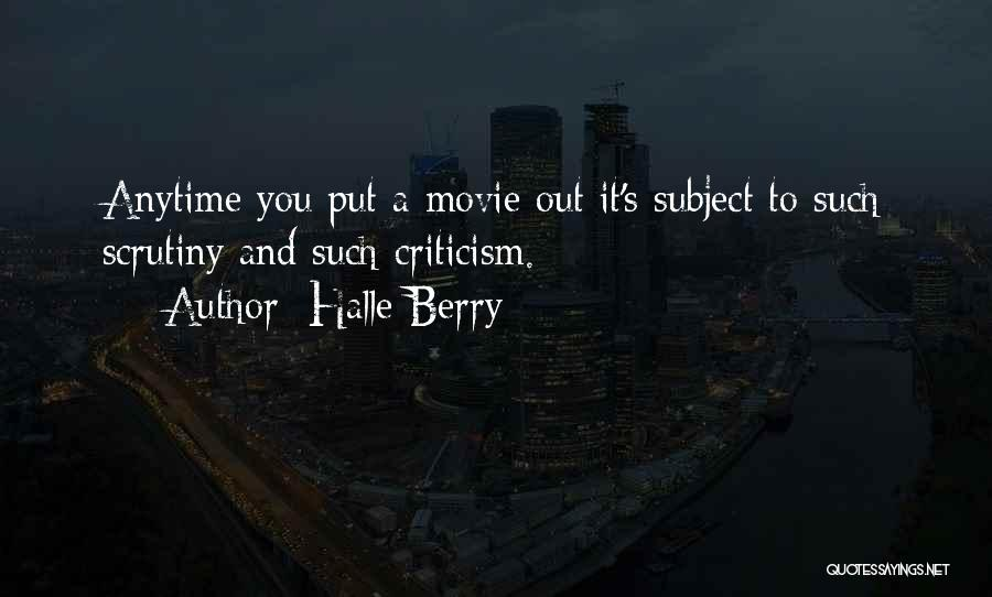 A-z Movie Quotes By Halle Berry