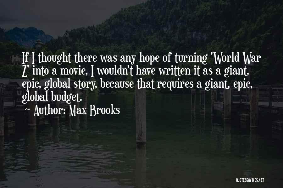 A-z Movie Quotes By Max Brooks