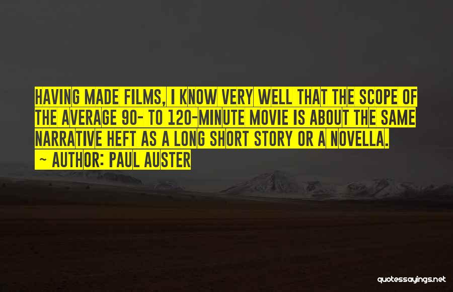 A-z Movie Quotes By Paul Auster