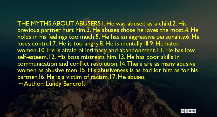 Abandonment Of A Child Quotes By Lundy Bancroft