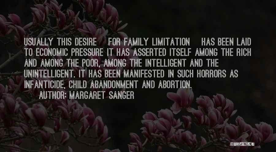 Abandonment Of A Child Quotes By Margaret Sanger