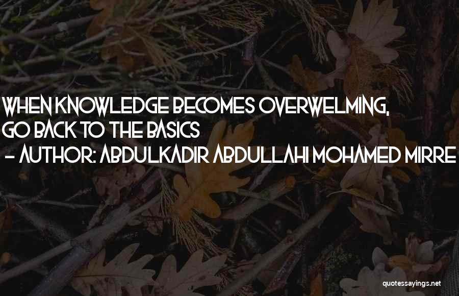 Abdulkadir Abdullahi Mohamed Mirre Quotes 906377