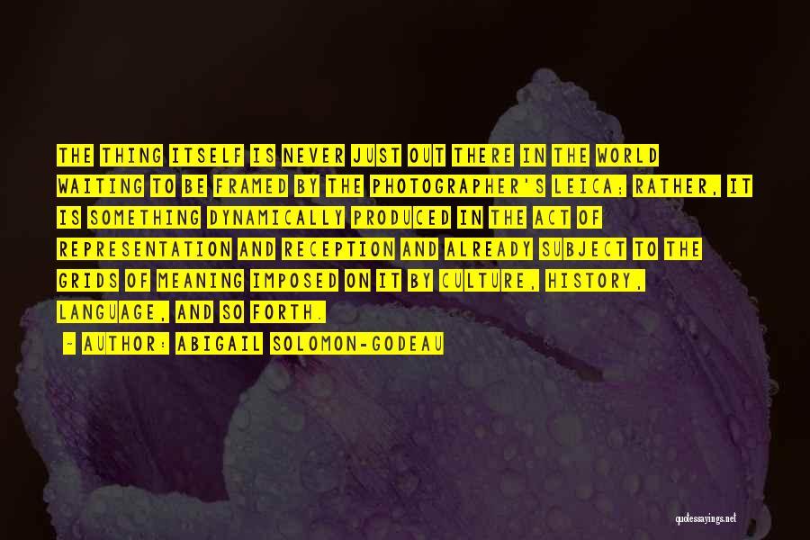 Abigail's Quotes By Abigail Solomon-Godeau