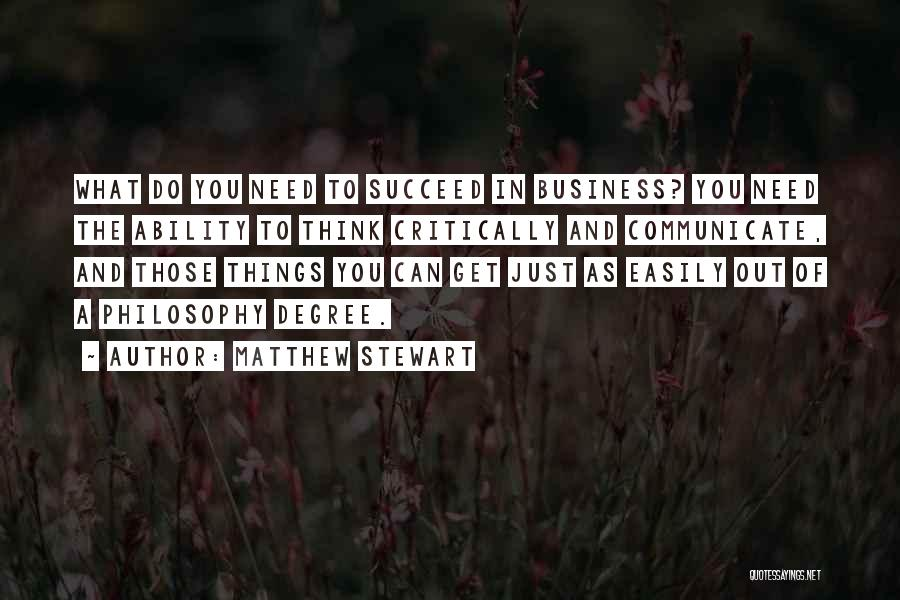 Ability To Succeed Quotes By Matthew Stewart