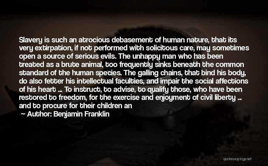 Abolition Of Man Quotes By Benjamin Franklin