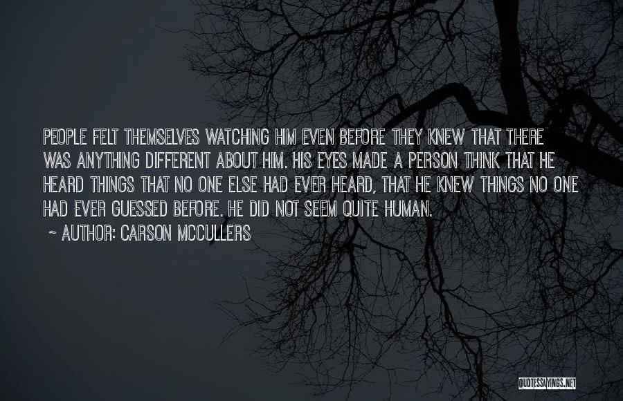 About Being Different Quotes By Carson McCullers