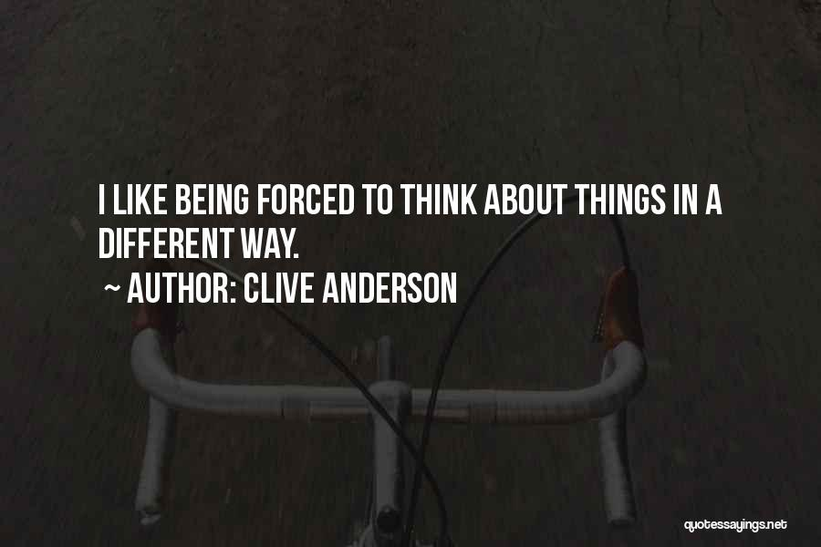 About Being Different Quotes By Clive Anderson