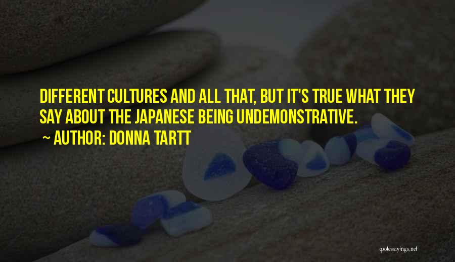About Being Different Quotes By Donna Tartt