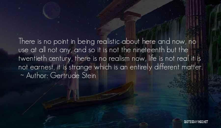 About Being Different Quotes By Gertrude Stein