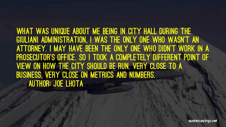 About Being Different Quotes By Joe Lhota
