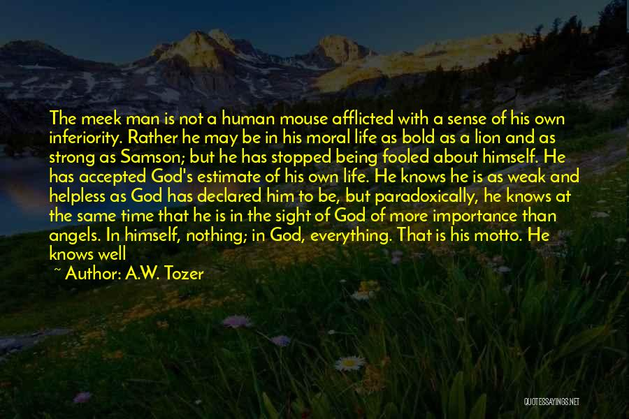 About Being Strong Quotes By A.W. Tozer