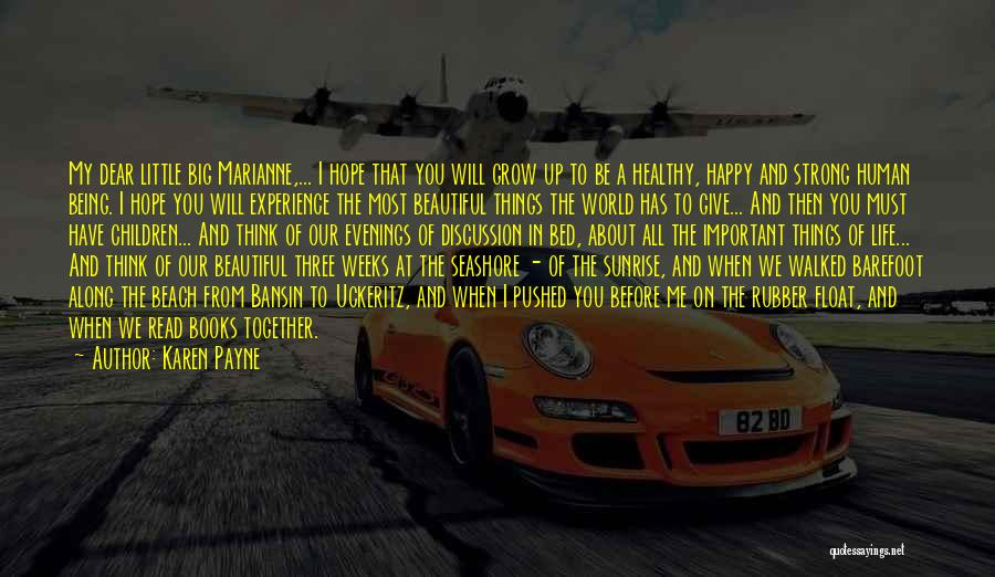 About Being Strong Quotes By Karen Payne
