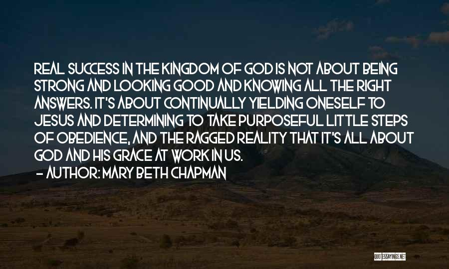 About Being Strong Quotes By Mary Beth Chapman