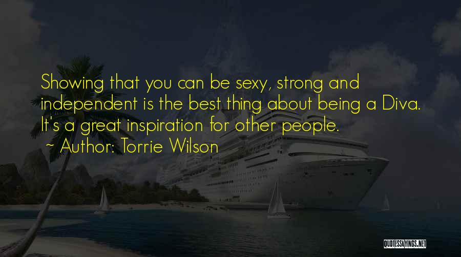 About Being Strong Quotes By Torrie Wilson